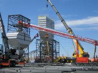 Installation of a concrete plant